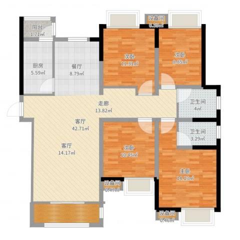 丰盛园4室1厅2卫1厨135.00㎡户型图