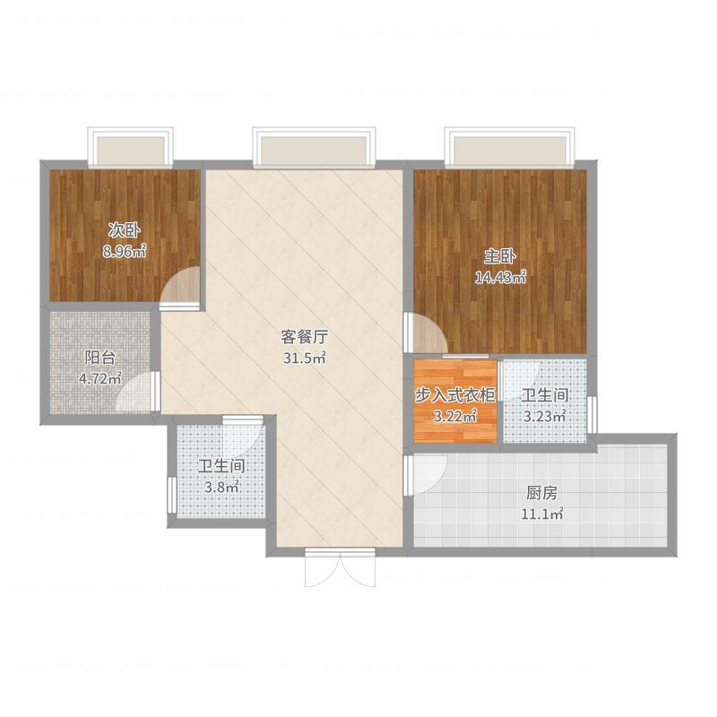 中渝香奈公馆-副本户型图