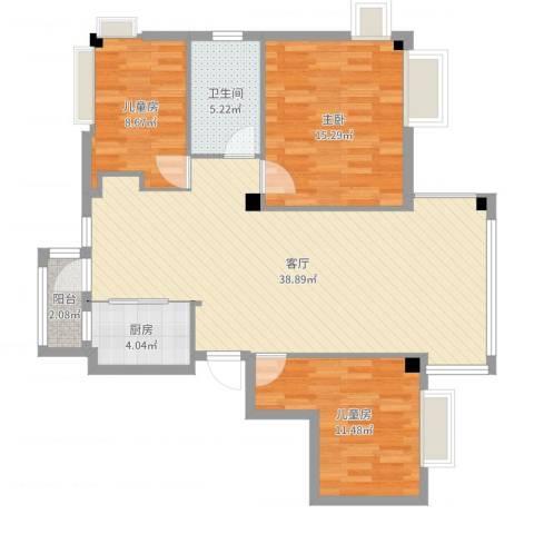 绿苑小区3室1厅1卫1厨107.00㎡户型图