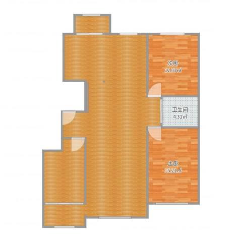 新星宇之洲2室1厅1卫1厨126.00㎡户型图