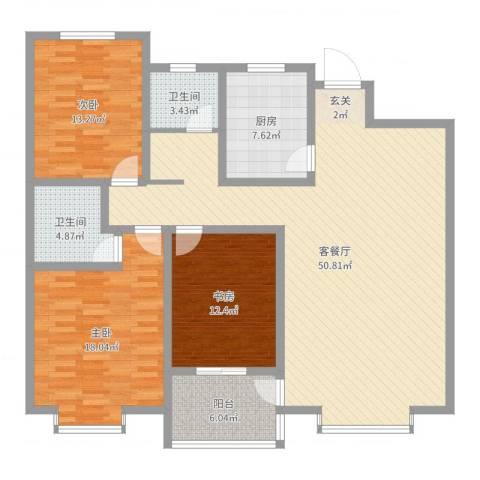 金鼎公寓3室2厅2卫1厨146.00㎡户型图