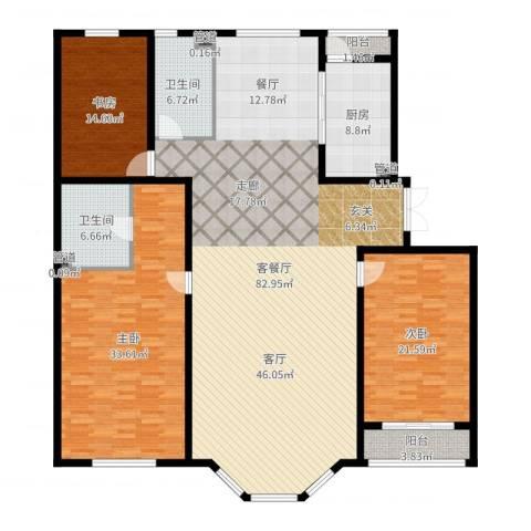 天誉国宝3室2厅2卫1厨226.00㎡户型图