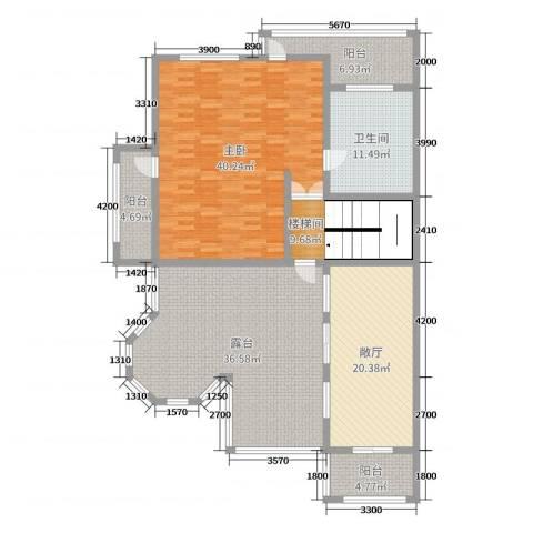 慧泽华府1室0厅1卫0厨352.00㎡户型图
