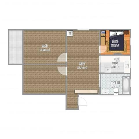 友联二村2室1厅1卫1厨87.00㎡户型图