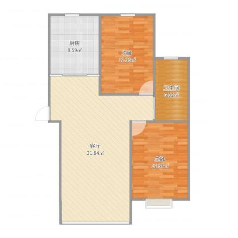 11小区2室1厅1卫1厨90.00㎡户型图