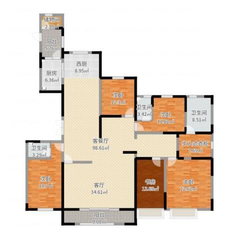 中海御龙湾5室2厅3卫1厨281.00㎡户型图