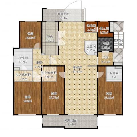 兴创屹墅4室2厅3卫1厨240.00㎡户型图