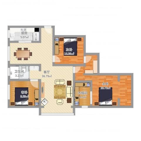 宝带小区3室1厅1卫1厨113.00㎡户型图