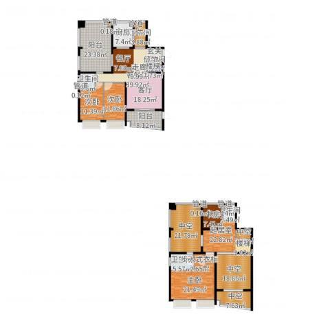 中海胥江府3室2厅4卫1厨271.00㎡户型图