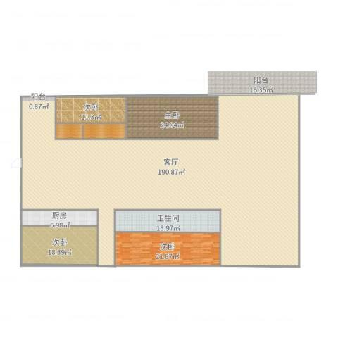 青竹湖畔4室1厅1卫1厨367.00㎡户型图