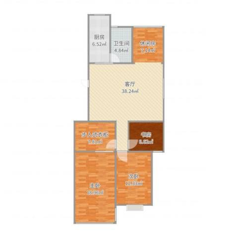 东城家园3室1厅1卫1厨119.00㎡户型图