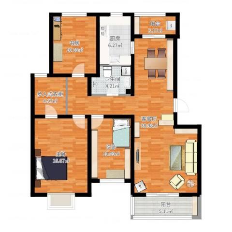 乐东馨园3室2厅1卫1厨125.00㎡户型图