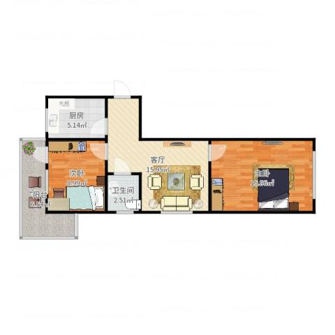 金泉里18-5012室1厅1卫1厨69.00㎡户型图