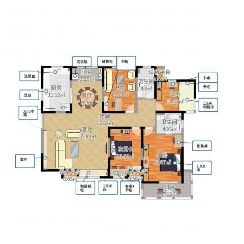 白桦林间3室1厅2卫1厨181.00㎡户型图