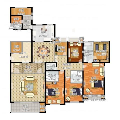 尚御府5室1厅5卫1厨368.00㎡户型图