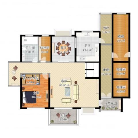 宝业大坂风情1室2厅1卫1厨228.00㎡户型图