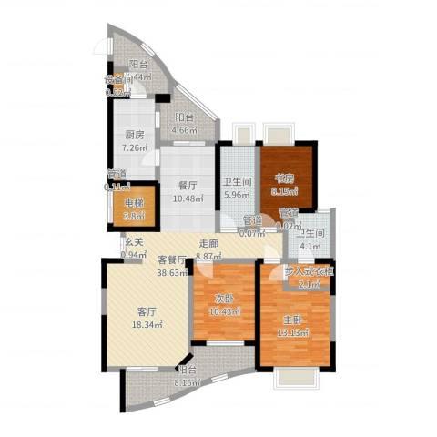 盛世钱塘3室2厅2卫1厨139.00㎡户型图