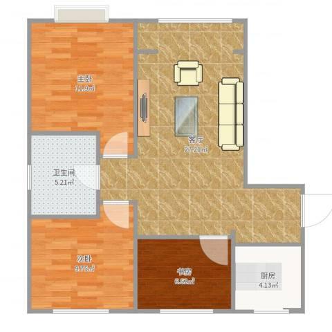 天津-翰澜苑3-1-804-YSK0293室1厅1卫1厨81.00㎡户型图