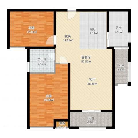新世纪可居2室2厅1卫1厨150.00㎡户型图
