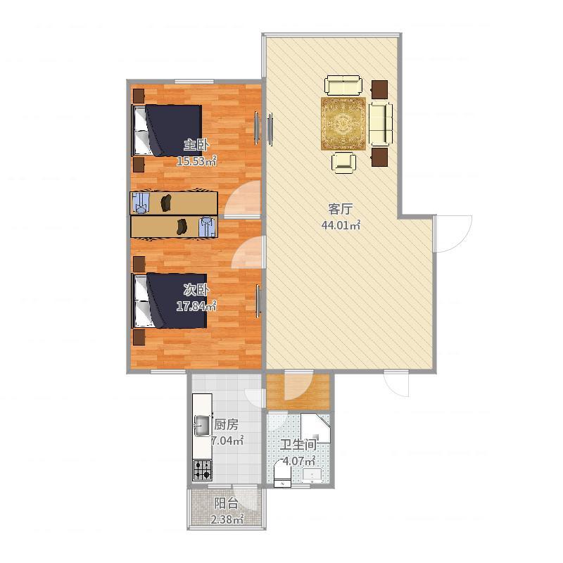 杨浦区国科路贵仁绿苑14号102室户型图户型图