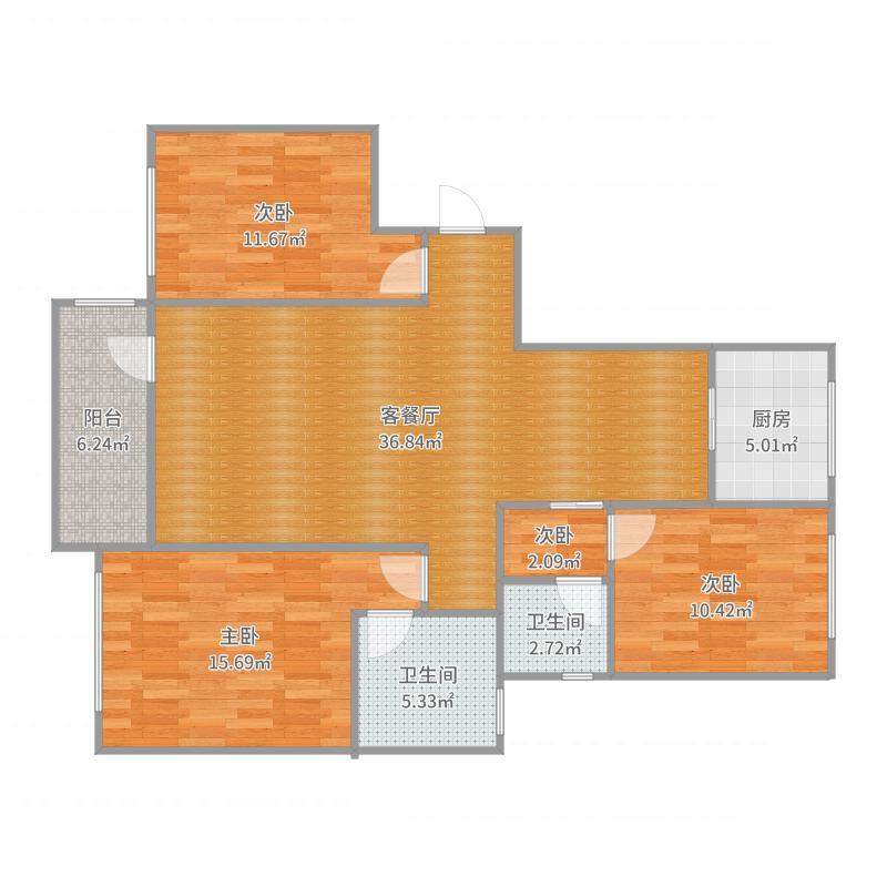 1#楼首层东1户型_2017-08-16-1730户型图