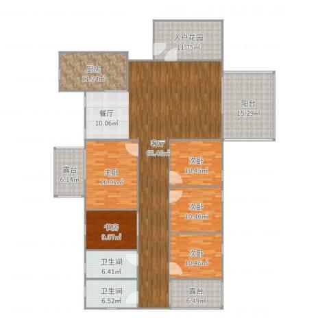大信新都花园5室1厅2卫1厨233.00㎡户型图