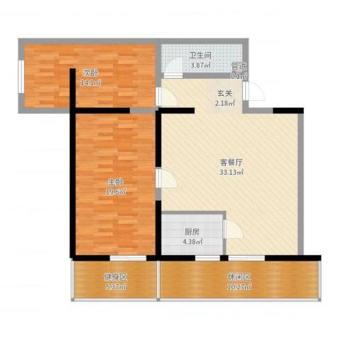 兴庆宫馆2室2厅1卫1厨114.00㎡户型图