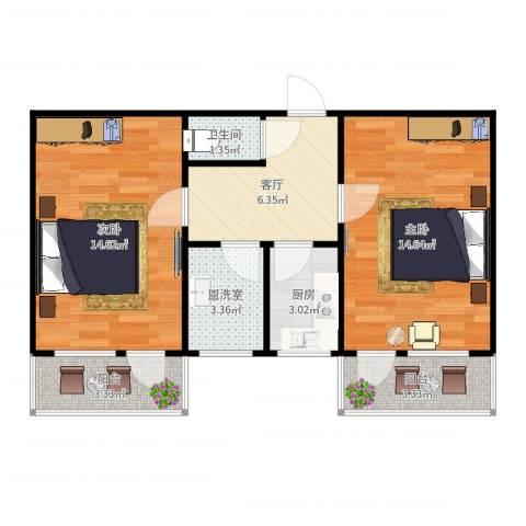 吉星南里6-2-4052室1厅1卫1厨62.00㎡户型图