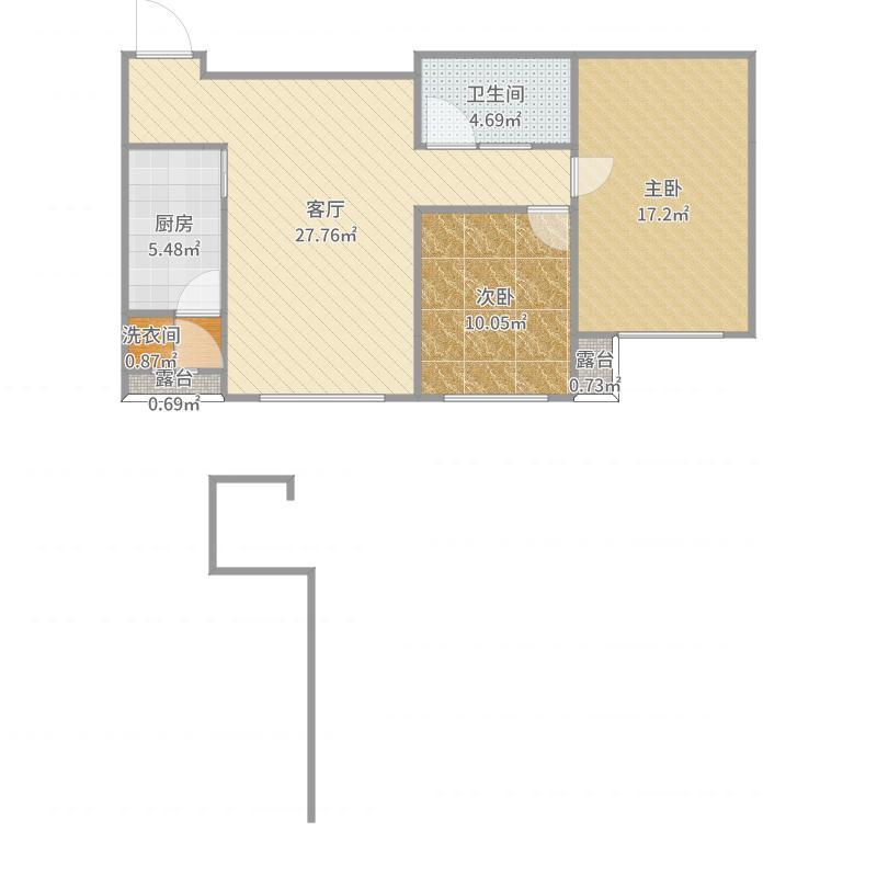 myhome-改户型-001-客餐厅户型图