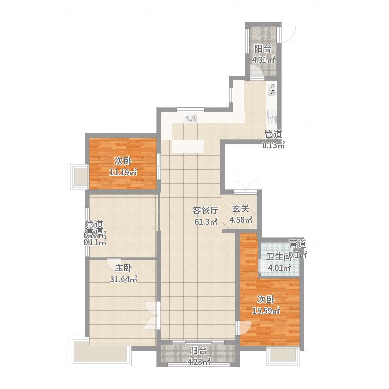 尚景・新世界187.00㎡5#9#户型3室3厅3卫1厨-副本户型图
