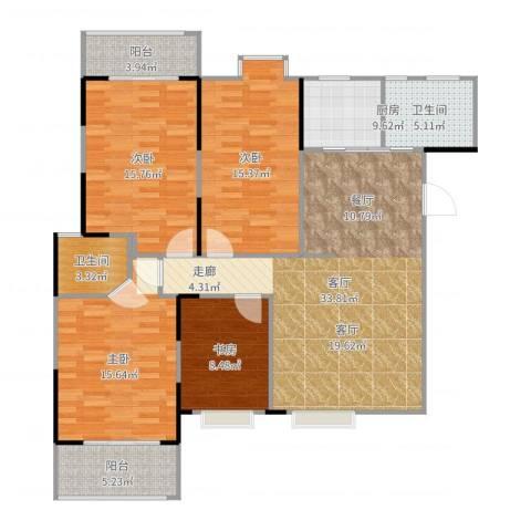 东方新城4室1厅1卫1厨139.00㎡户型图