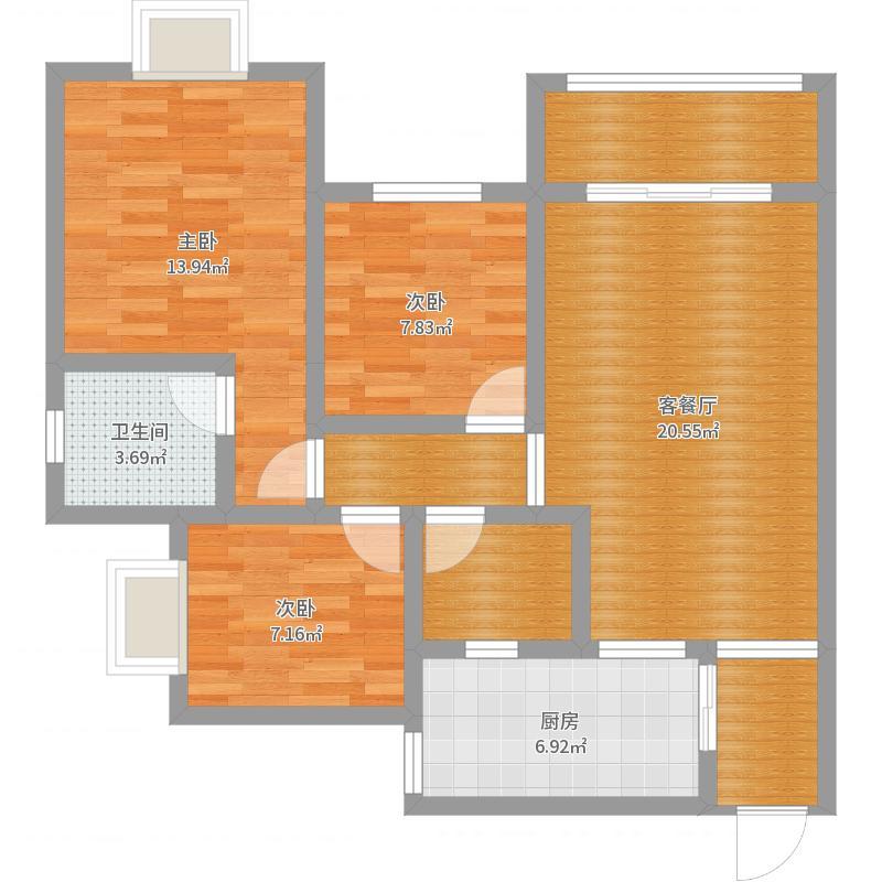 上海公馆20-26-3-副本户型图