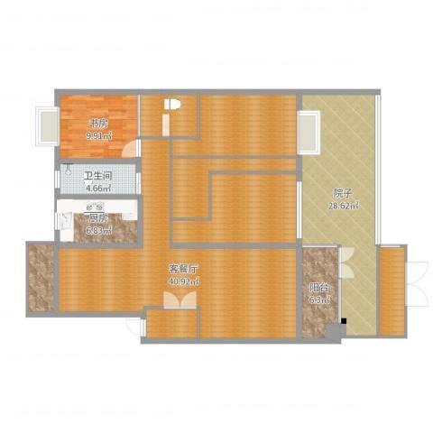 岚翠苑13栋107室1室2厅1卫1厨183.00㎡户型图