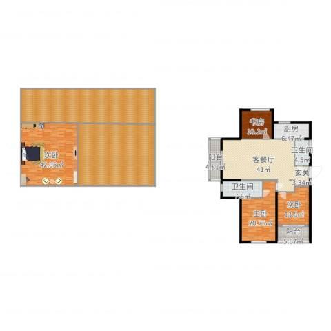 滨江一号4室2厅2卫1厨339.00㎡户型图