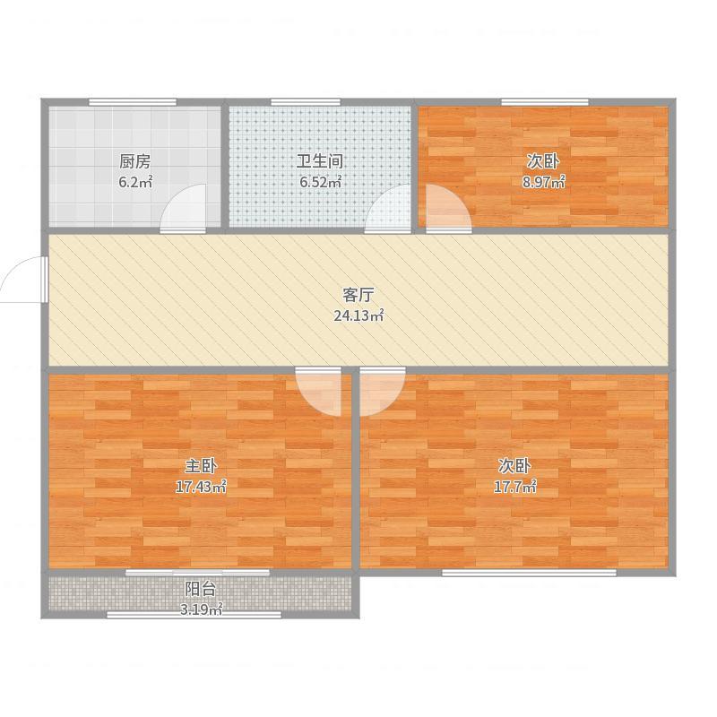 上海_江海二村_2017-08-19-1716户型图
