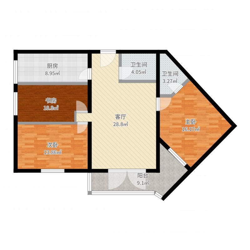 龙庭公寓139户型图