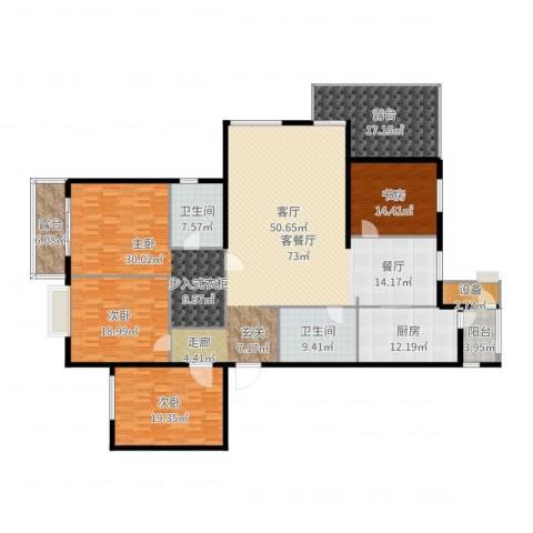 花园五座4室2厅2卫1厨269.00㎡户型图