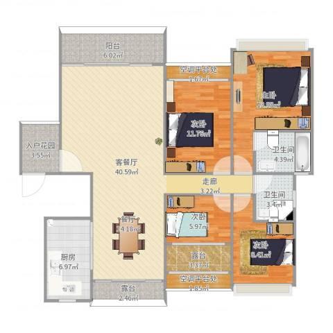 世纪广场4室2厅4卫2厨143.00㎡户型图