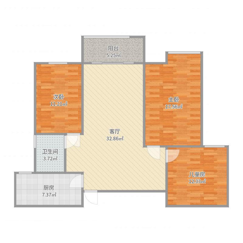 铜锣湾9-1-603户型图