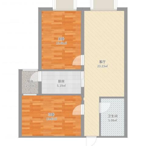凯泰愉景2室1厅1卫1厨79.00㎡户型图
