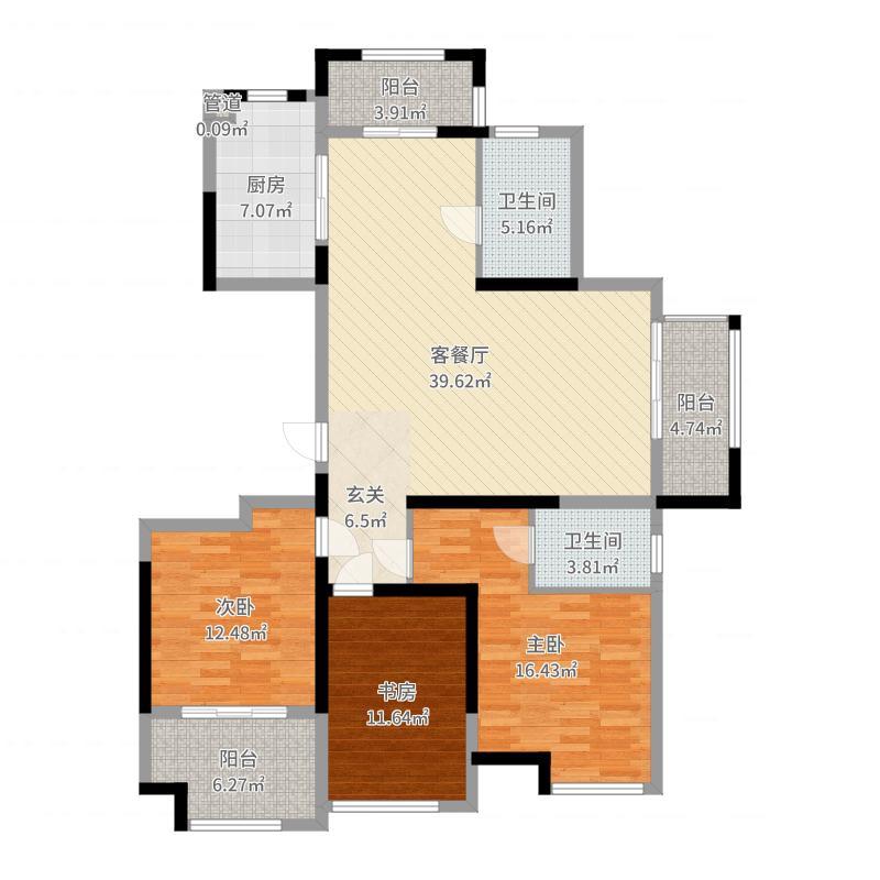 南通_瑞海人才公寓・凤凰府邸_2017-08-21-1000户型图