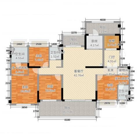 碧桂园・盛世华府4室2厅3卫1厨180.00㎡户型图