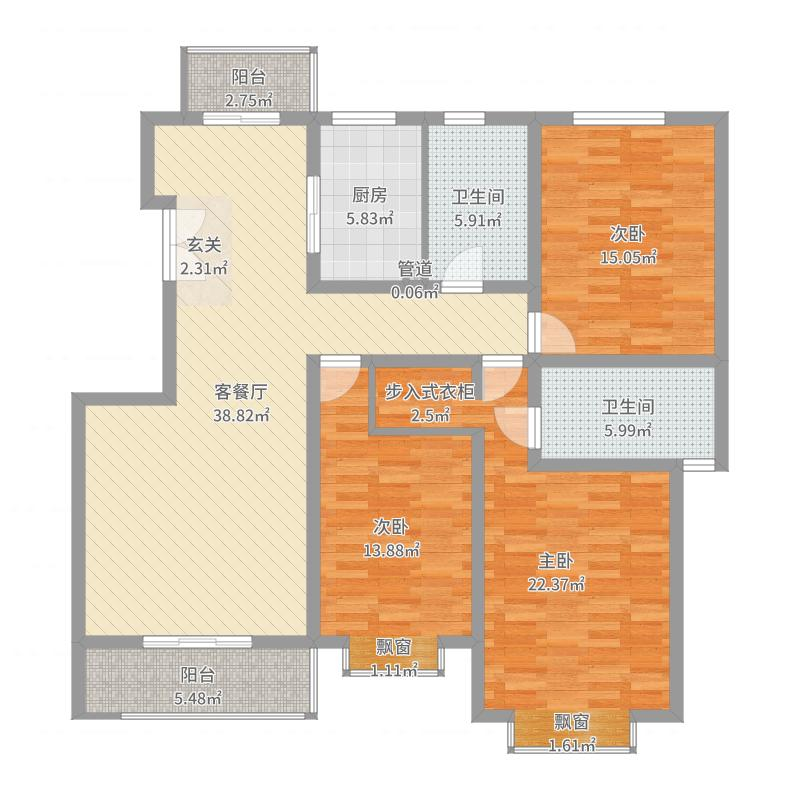 碧龙江畔154.64㎡碧龙江畔户型图户型图3室2厅2卫户型3室2厅2卫-副本户型图
