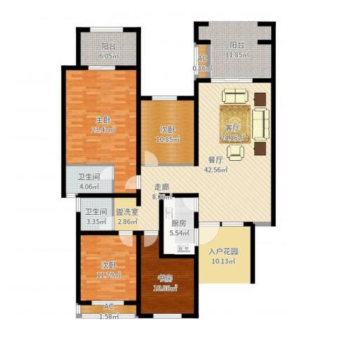 正商红河谷4室1厅4卫1厨151.00㎡户型图