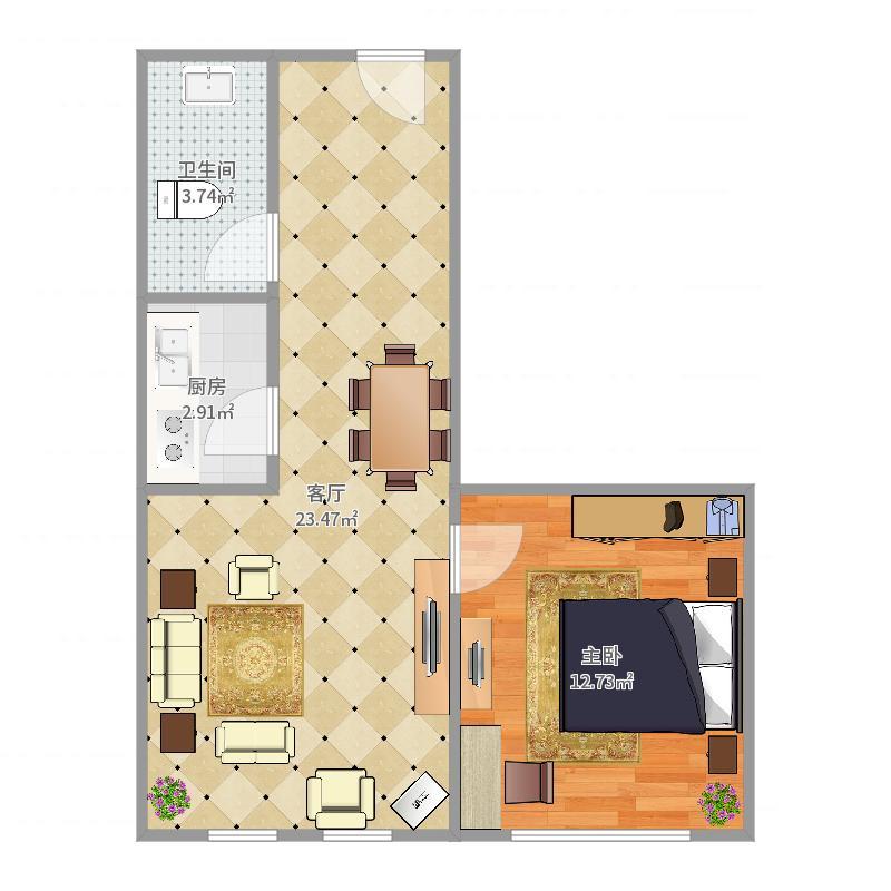 盛锦苑13-1404户型图