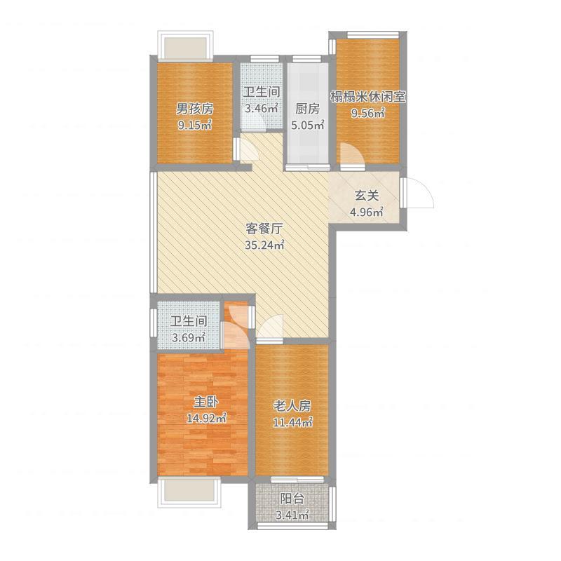 新天地荣府1号楼2506户型图