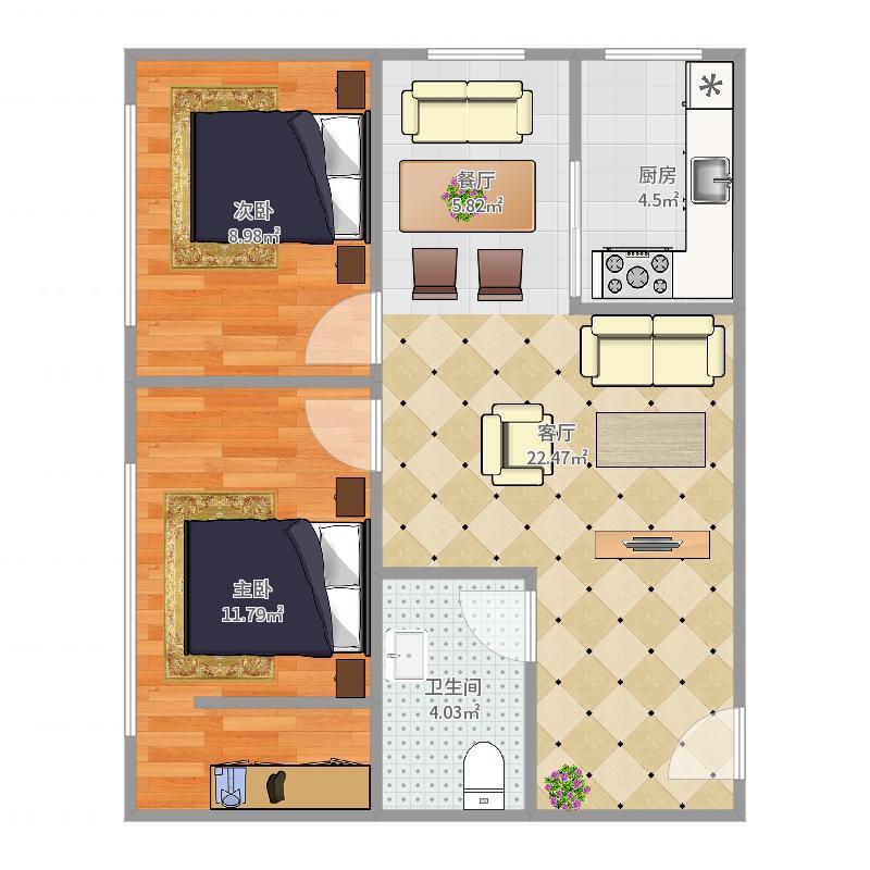 颐景公寓9-2-704户型图