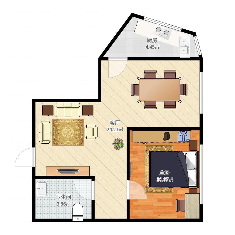和平门3-1106户型图