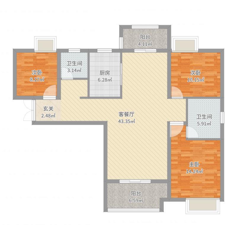 邢台-七十九号院-设计方案户型图