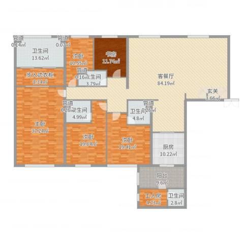 太原茂业天地5室2厅5卫1厨308.00㎡户型图